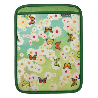 Daisies and butterflies iPad sleeve