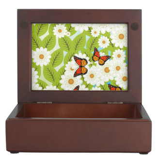 Daisies and butterflies keepsake boxes