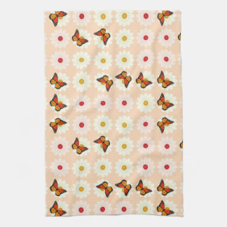 Daisies and butterflies kitchen towel