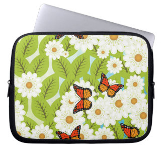 Daisies and butterflies laptop sleeve