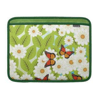 Daisies and butterflies MacBook sleeve