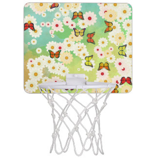 Daisies and butterflies mini basketball backboard