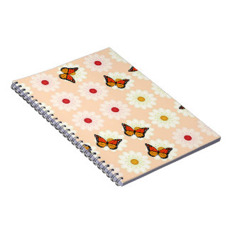 Daisies and butterflies notebooks