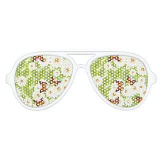 Daisies and butterflies party sunglasses