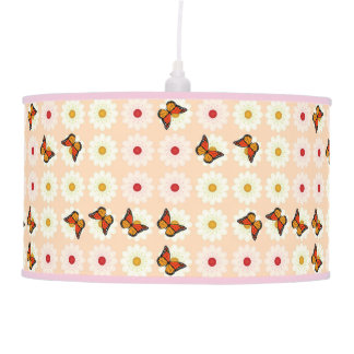 Daisies and butterflies pendant lamp