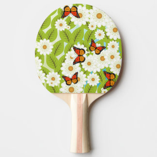 Daisies and butterflies Ping-Pong paddle