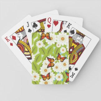 Daisies and butterflies poker deck