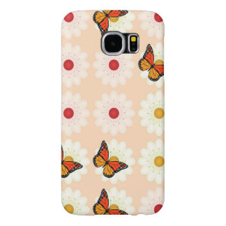 Daisies and butterflies samsung galaxy s6 cases