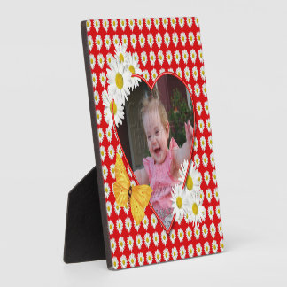 Daisies and Butterfly Valentine Photo Display Plaques