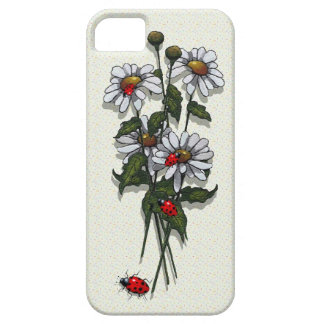 Daisies and Ladybugs, Ladybirds: Nature Art iPhone 5 Cover