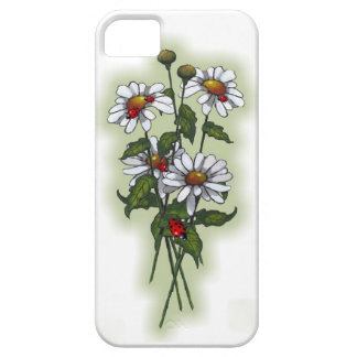 Daisies and Ladybugs, Ladybirds: Nature Art iPhone 5 Case