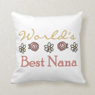 Daisies and Roses Best Nana Gifts Throw Pillow