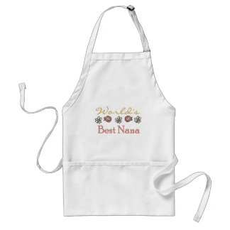 Daisies and Roses Worlds Best Nana Standard Apron