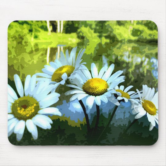Daisies at the Pond Mouse Pad