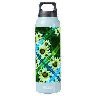 Daisies background insulated water bottle