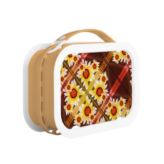 Daisies background lunchboxes