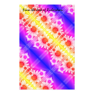 Daisies background stationery