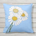 Daisies Bouquet Throw Pillow