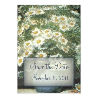 """Daisies Bouquet Wedding Save the Date Notice 5"""" X 7"""" Invitation Card"""