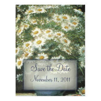 Daisies Bouquet Wedding Save the Date Postcard