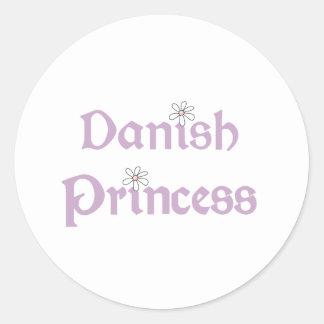 Daisies Danish Princess Classic Round Sticker
