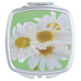 Daisies Digitally Painted Compact Mirror