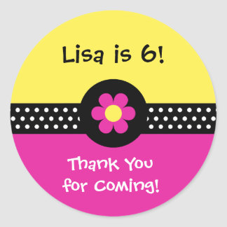 Daisies, Dots n Ladybugs   Personalized Stickers