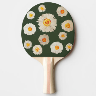Daisies Drawing Ping Pong Paddle, Red Rubber Back Ping Pong Paddle