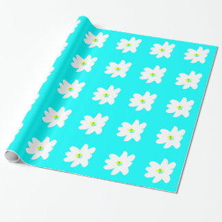 Daisies Everywhere Turquoise 4Marcia Wrapping Paper