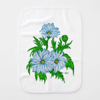 Daisies flowers burp cloth
