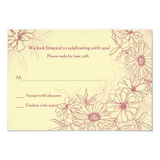 "Daisies Galore Response Card 3.5"" X 5"" Invitation Card"