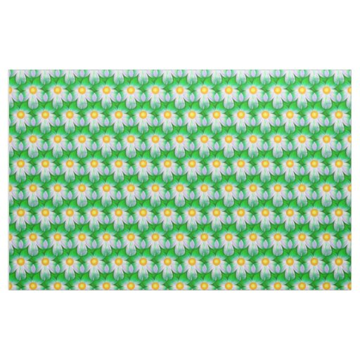 Daisies Green Fabric