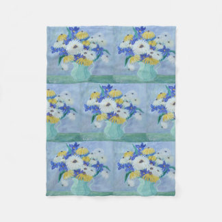 Daisies In A Vase Fleece Blanket