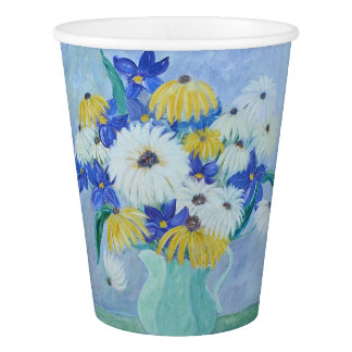 Daisies In A Vase Paper Cup