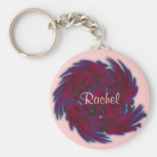 Daisies in a Whirlwind Keychain