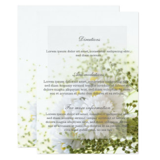 Daisies in Love Editable Wedding Bouquet Direction Card