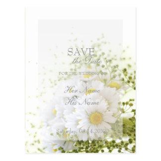 Daisies in Love- Editable Wedding Bouquet Postcard