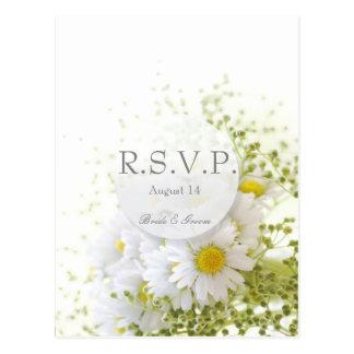 Daisies in Love- Editable Wedding Bouquet  RSVP Postcard