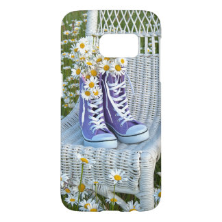 daisies in purple sneakers samsung galaxy s7 case
