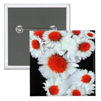 Daisies in red pin