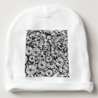 daisies in the garden baby beanie