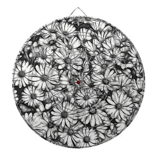 daisies in the garden dartboard