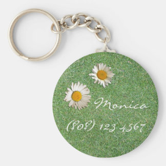 Daisies in the Grass Keychain