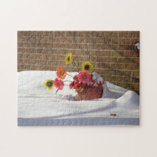 Daisies In The Snow Puzzles