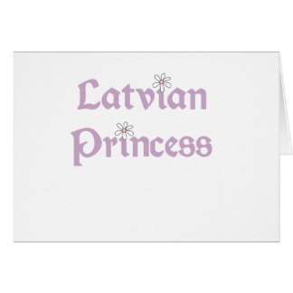 Daisies Latvian Princess Card