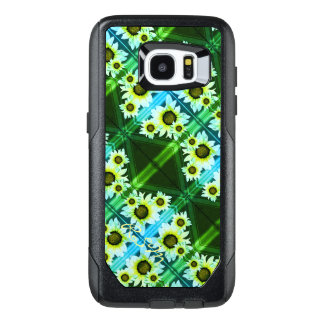 Daisies monogrammed green OtterBox samsung galaxy s7 edge case