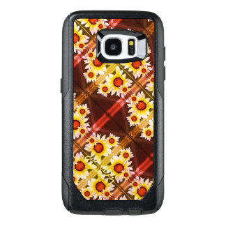 Daisies monogrammed orange OtterBox samsung galaxy s7 edge case
