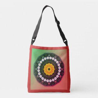Daisies Nature 02.3.F, Flower-Mandala Crossbody Bag