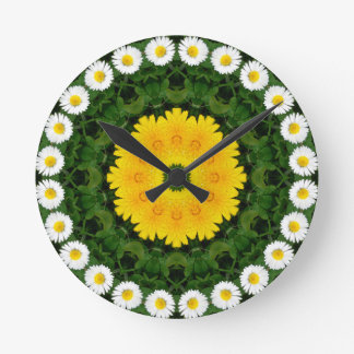 Daisies Nature, Flower-Mandala Clocks