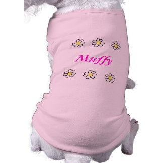 Daisies on a Pink Background Pet Shirt
